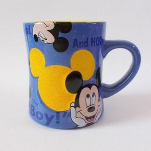 Disney Parks Mickey Mouse Coffee Mug Blue Yellow